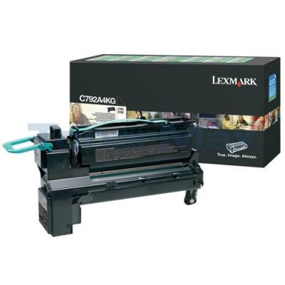 LEXMARK C792/X792 PRINT CART BLACK RP TAA